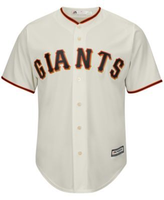 Majestic Men's Buster Posey San Francisco Giants Player Replica Jersey - Ivory/Cream XXL
