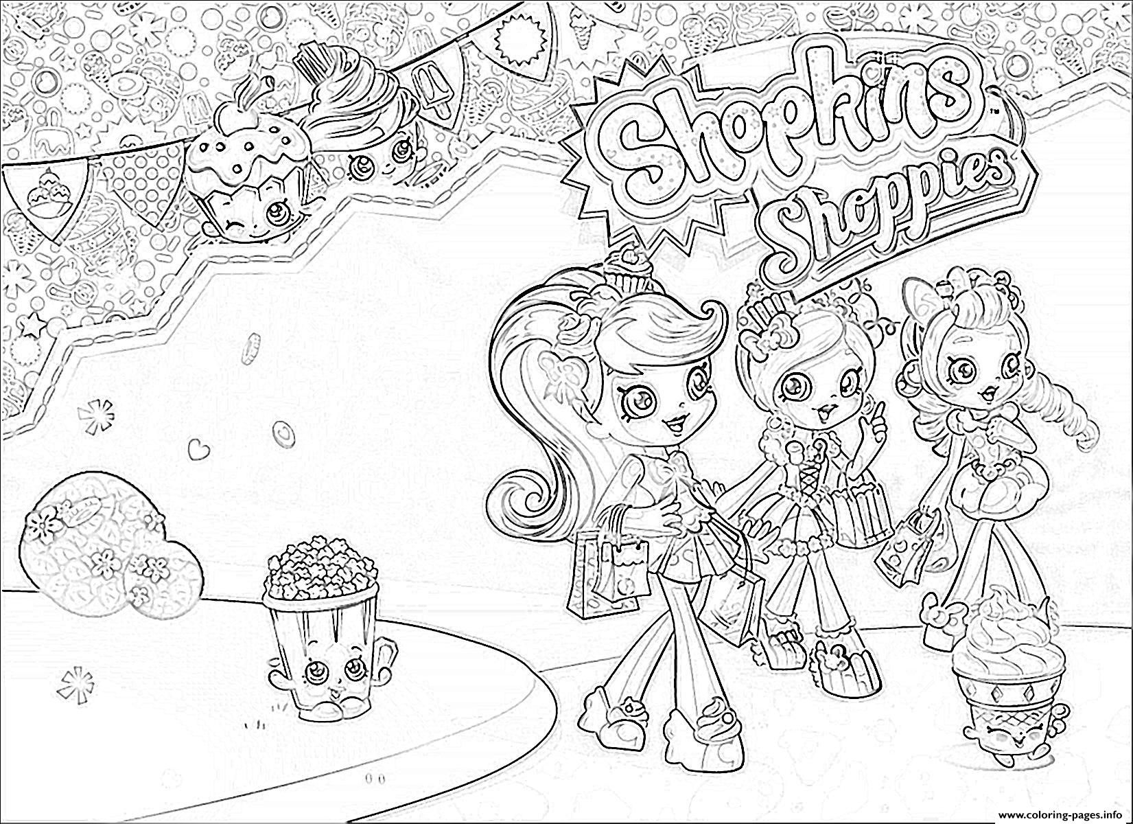Print Shopkins Shoppies Girls Coloring Pages Shopkins Colouring