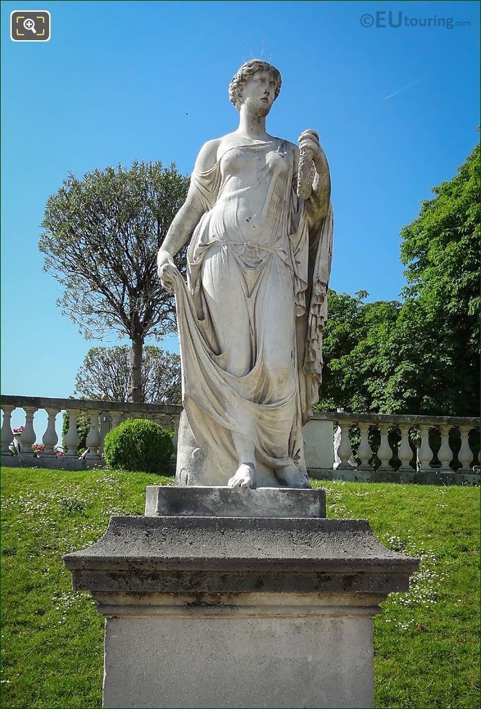 La d esse des fleurs jardin du luxembourg sculptures - Statue of liberty jardin du luxembourg ...