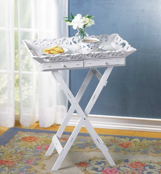 bed side table shabby chic tray table wholesale at. Black Bedroom Furniture Sets. Home Design Ideas