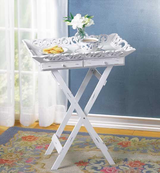 Tray Table | Shabby chic tray, Shabby chic side table ...