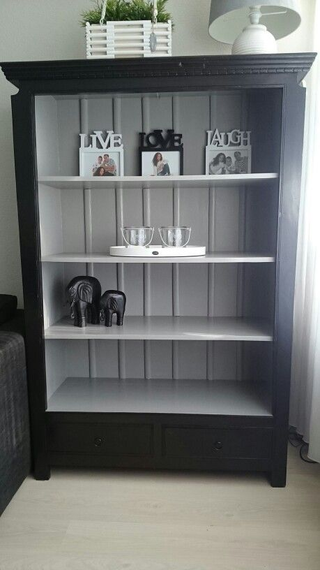 Oude boekenkast opgeknapt | My home | Pinterest - Oude boekenkast ...