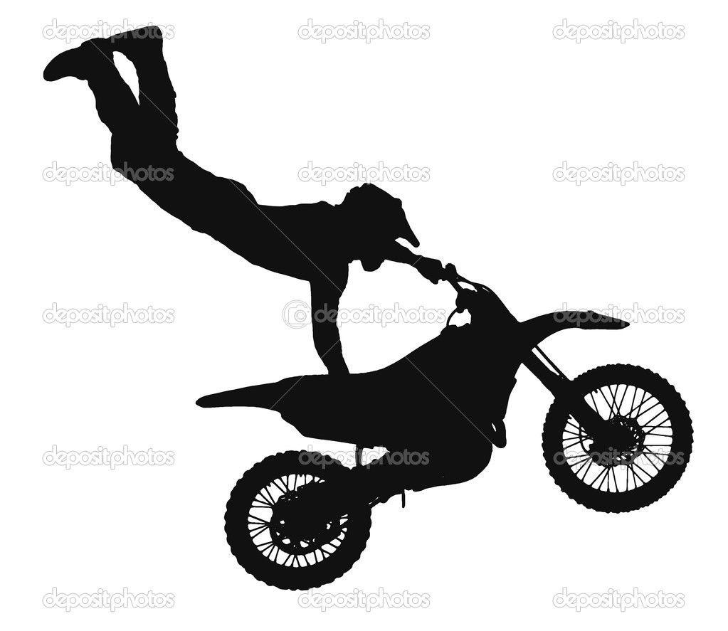 Dirt Bike Silhouette Clip Art ... | Woodburning ...