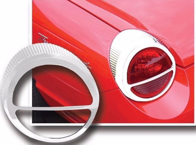 Tl43670 Ford Thunderbird Chrome Tail Light Trim 2pc Ford Thunderbird Tail Light Thunderbird