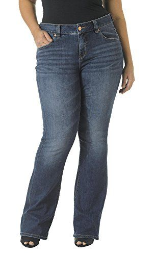 5aeb64d6441 Jag Jeans Womens PlusSize Foster Boot Cut Jean Indigo Aged 14W   To view  further for this item