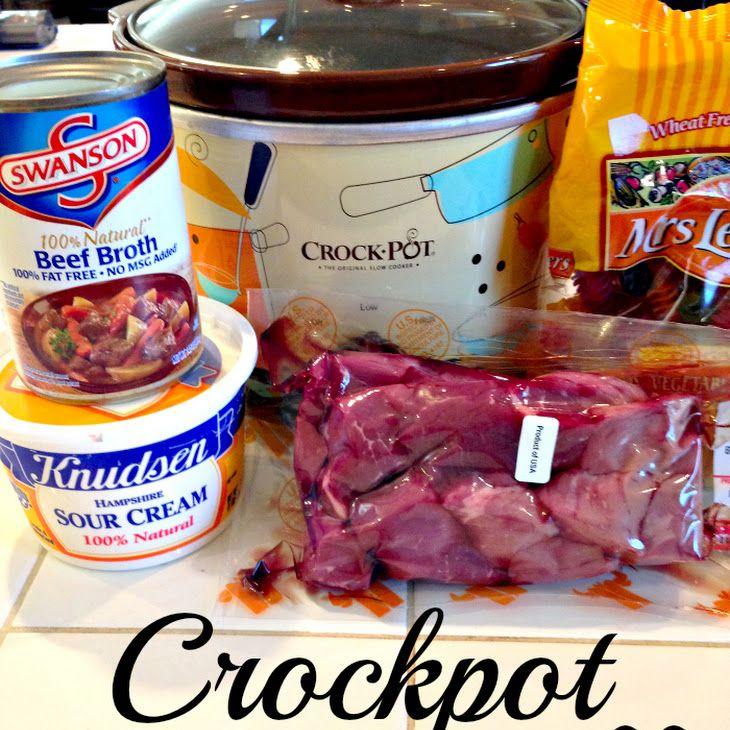 Crockpot Beef Stroganoff Recipe Yummly Recipe Beef Stroganoff Crockpot Crockpot Beef Stroganoff Recipe Recipes
