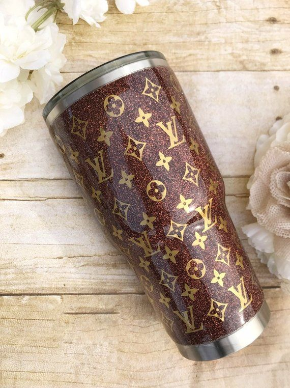 Crafting Pieces Tumblers Lv Glitter Tumbler