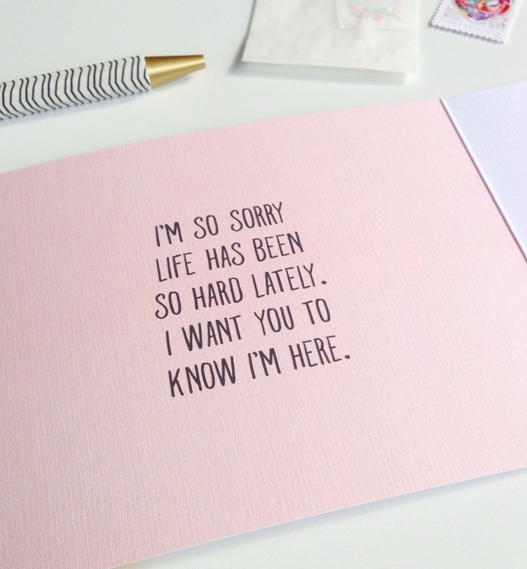 Im so sorry life has been so hard lately sympathy greeting card by im so sorry life has been so hard lately sympathy greeting card by kristyandbryce Images