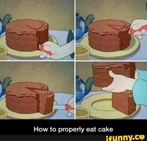 Image result for how to properly eat cake