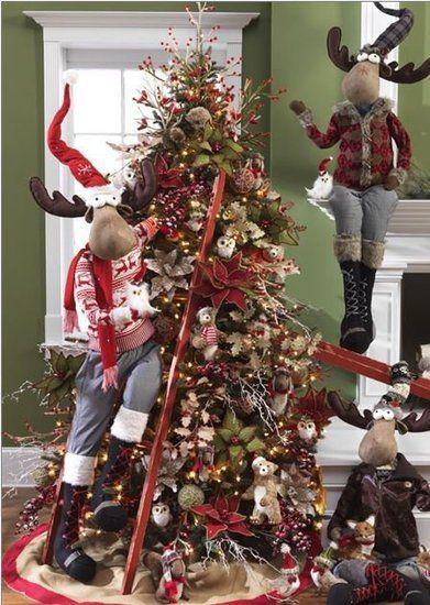 Owls Bears Moose Oh My Christmas Tree Theme Xmas