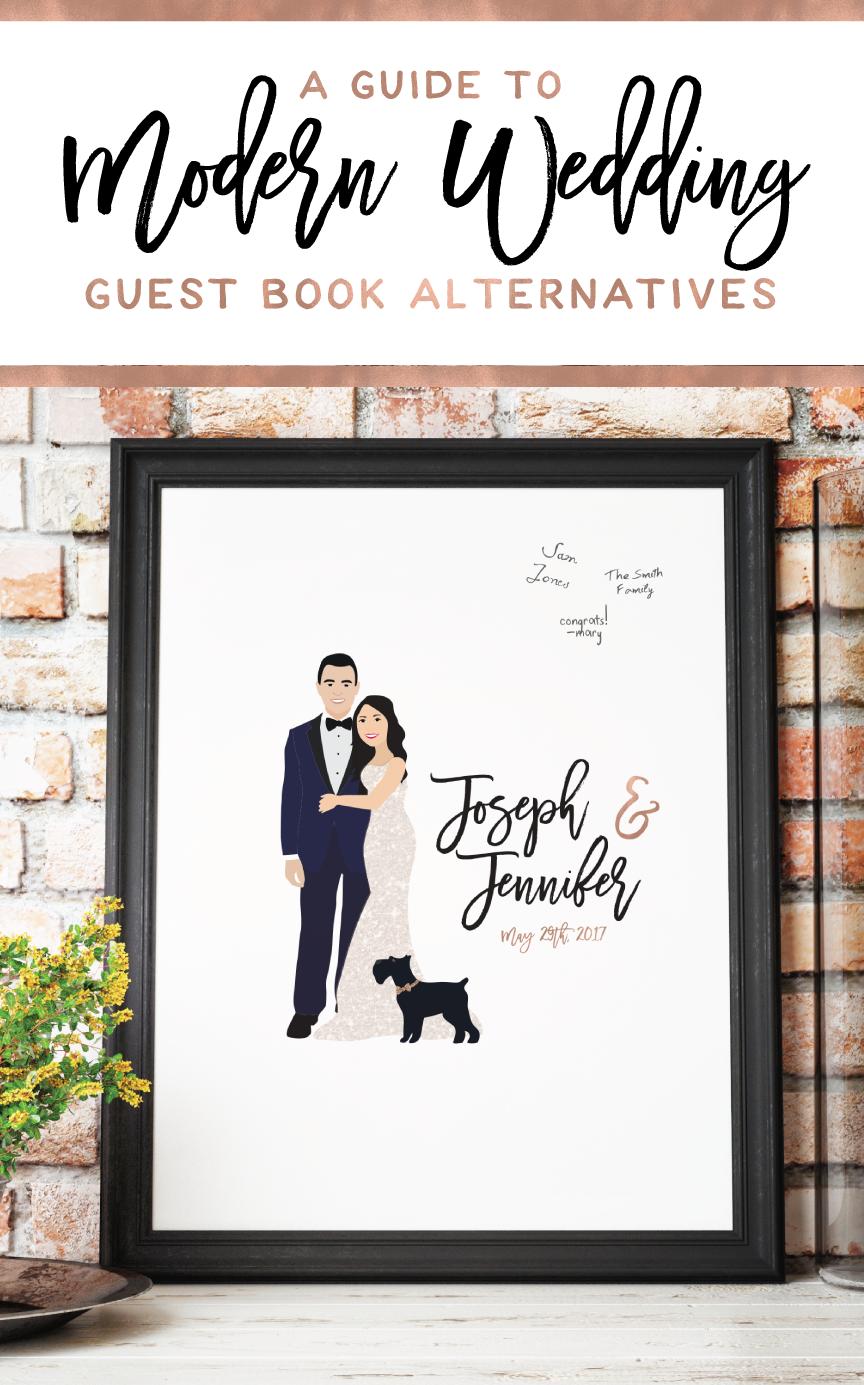 Find Modern Wedding Guest Book Alternativeore At Miss Design Berry