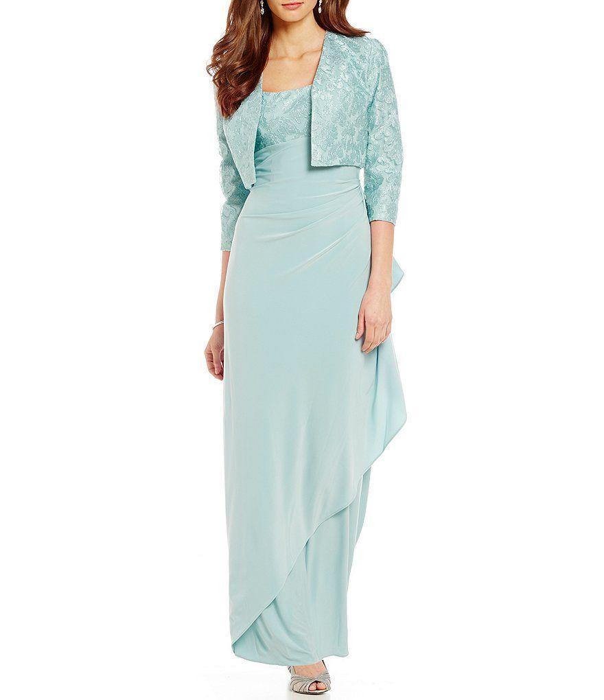 Lace dress jacket  Alex Evenings Lace Empire Jacket Dress  Kıyafet seçenekleri