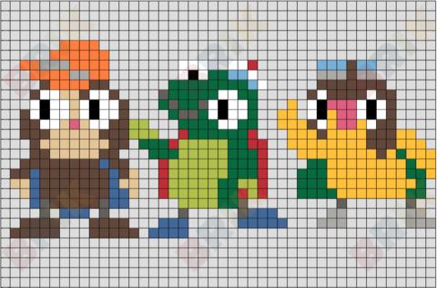 Wonder Pets Pixel Art Wonder Pets Pixel Art Lego Art