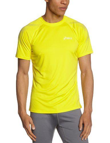 37f1ee79ba Asics - Camiseta de running para hombre amarilla  camiseta  friki  moda   regalo