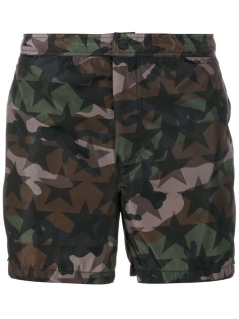 185d283949 VALENTINO Camouflage And Star Print Swim Shorts. #valentino #cloth #shorts