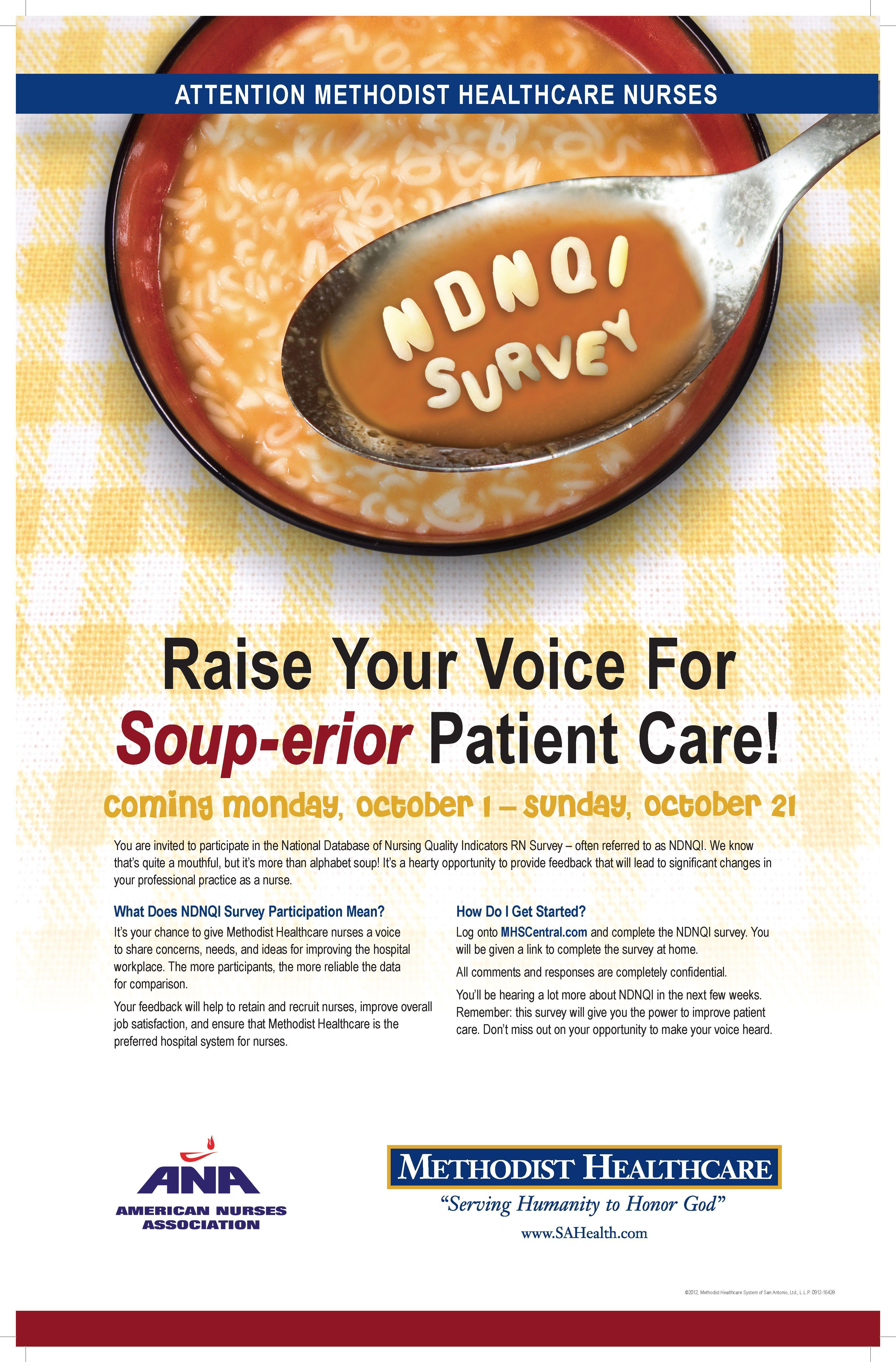 methodist healthcare ndnqi survey poster | writing samples - print