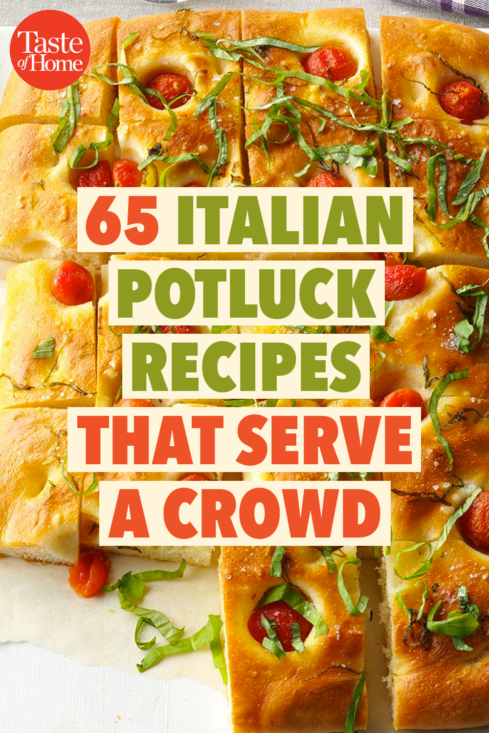 65 Italian Potluck Recipes That Serve a Crowd #potluckrecipes