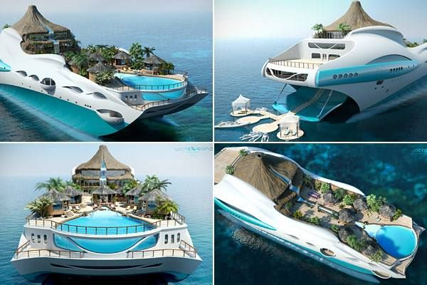 The Tropical Island Paradise yacht brings to life the ambience one could notice on most secluded islands in Polynesia, Indian Ocean or the Caribbean seas. The deck has been done up with a volcano (not functional), a beach with a swimming pool in the center, and live cabanas that one could notice on vacation islands. http://wavesrecruiting.com/