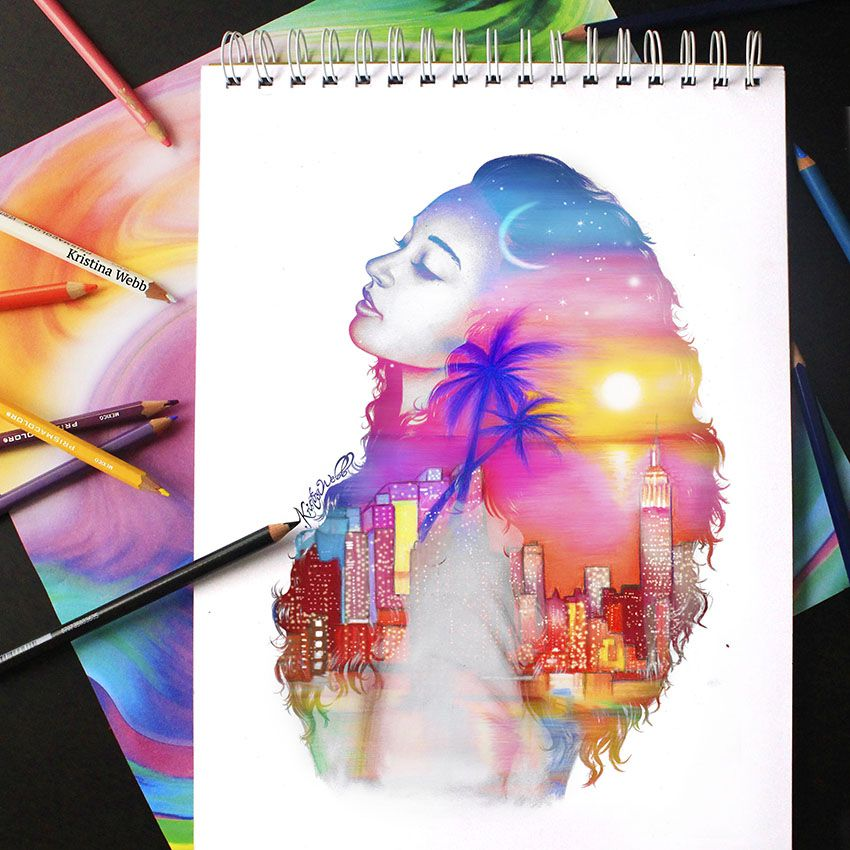 Colour Me Creative Drawing By Kirstina Webb Such An Amazing Artist O The Painting And Her Photoshop Skills Are Incredible So Cool 3