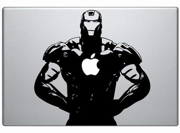 Iron Man Vinyl Decal Sticker For Your Macbook OMG I Want One - Vinyl decals for macbook