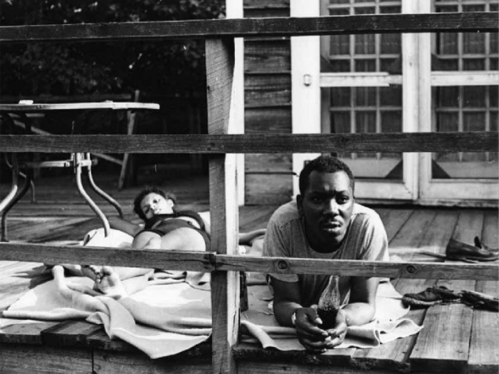 Jacob Lawence and Gwendolyn Knight at Black Mountain College, Summer 1946