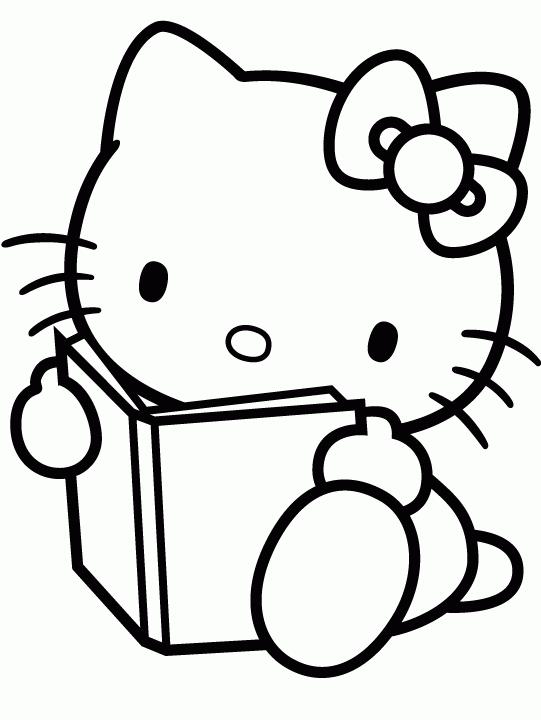 Kitap Günü Boyama Sayfalari Hello Kitty Colouring Pages Hello