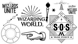 Harry Potter Wizards Unite Logos And Icons Harrypotterwizardsunite Logos And Iconset Mobilegame Videogames Harry Potter Wizard Potter Harry Potter Crafts