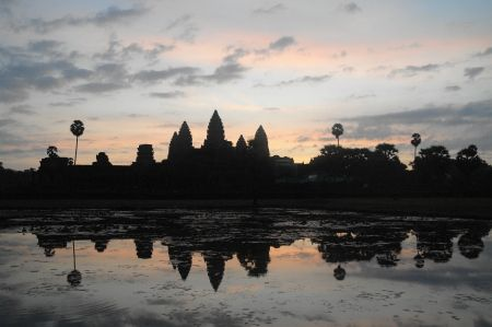 Ankgor Wat at Sunrise, Cambodia.