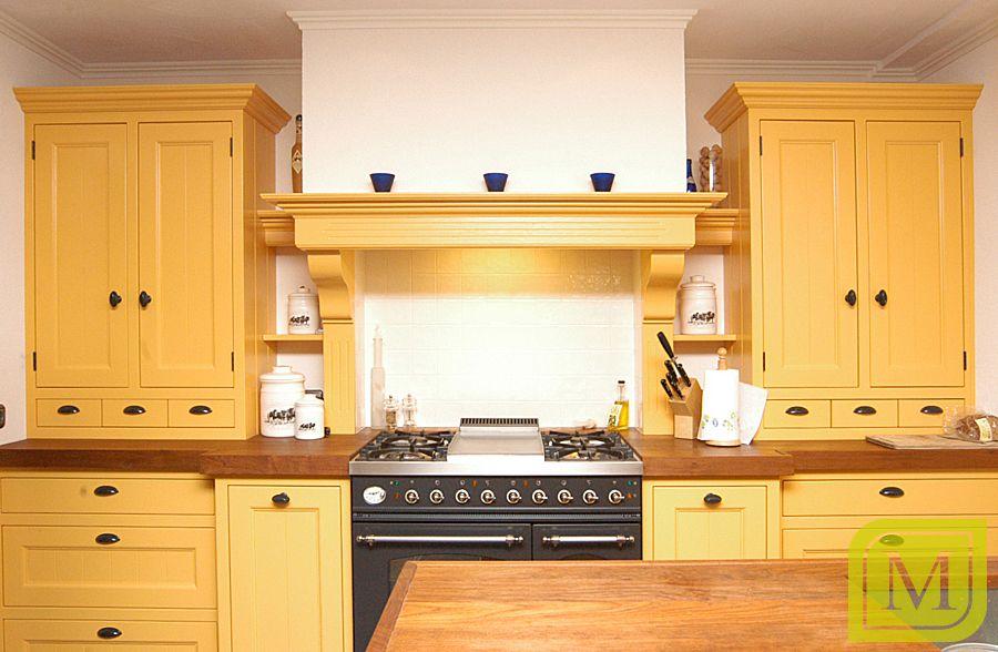 Landelijk Geel Keuken : Gele keuken in landelijke stijl #mint #interieur #maatwerk