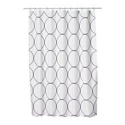 uddgrund shower curtain whiteblack ikea - Ikea Shower Curtains
