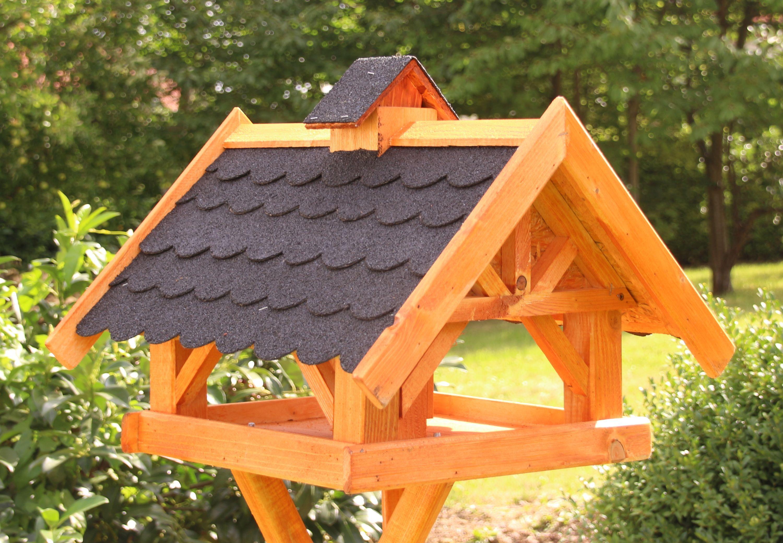 großes vogelhaus mit solarlicht typ 34 | bird houses and woodwork