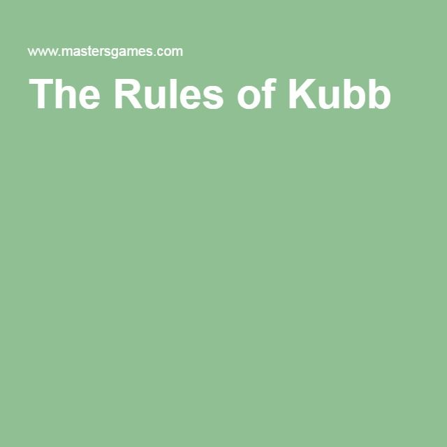 The Rules Of Kubb Relay Ideas Pinterest Skittles Game Lawn