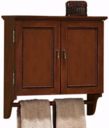 Chelsea wall cabinet with towel bar homedecorators home - Bathroom wall cabinet with towel bar ...