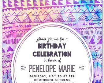 Teen Invitation Etsy Nat Parties Pinterest Etsy And - Birthday invitation cards tumblr