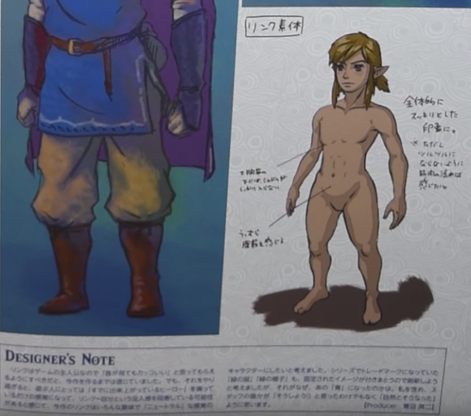 Breath of the wild link naked