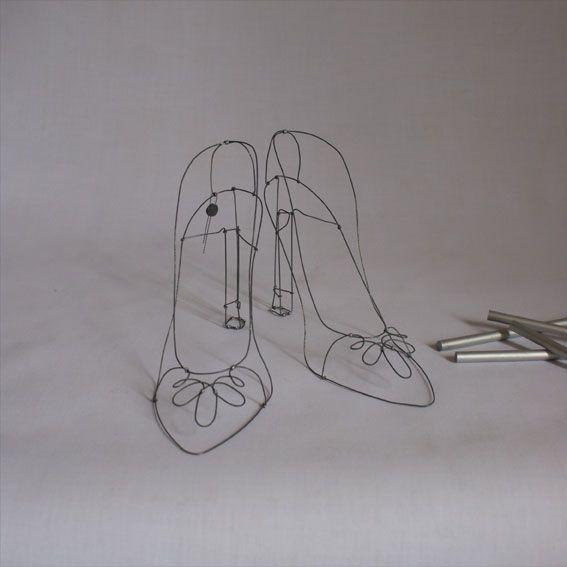 objets fils de fer sculptures et objets: wire shoes | wire ...