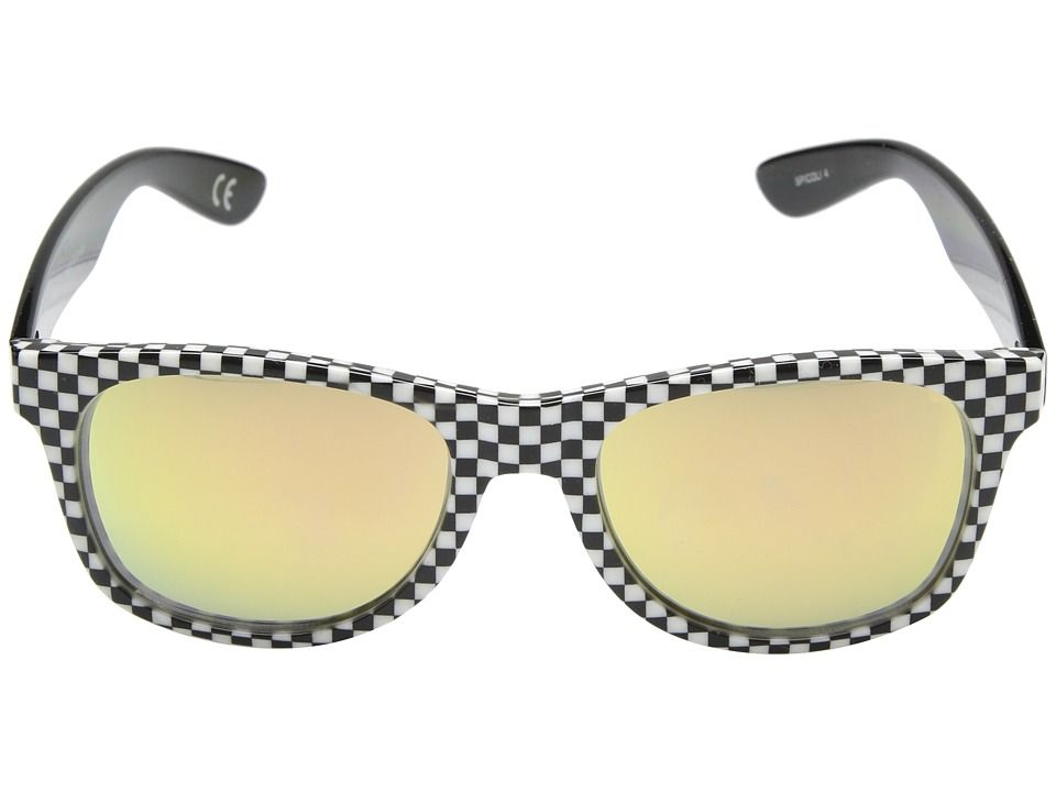 02e07db07d Vans Spicoli 4 Shades Fashion Sunglasses Checkerboard Black Red ...