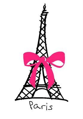 Dibujo Torre Eiffel Con Flores