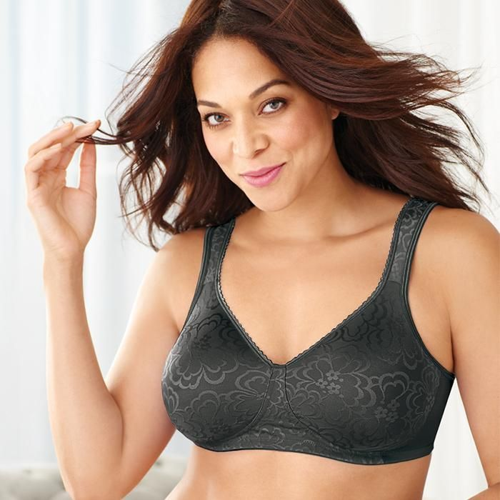 3b0a303577e Playtex 18 Hour Ultimate Lift and Support Wirefree Bra (4745) in Black