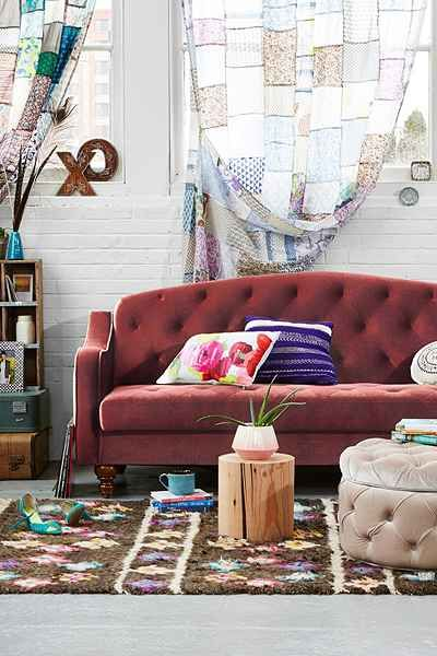 Chaise Sofa Plum u Bow Ava Large Storage Ottoman Sleeper CouchFuton
