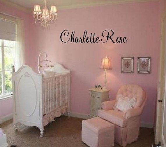 Custom Name Vinyl Wall Decal Elegant And Fun Baby Nursery Girl - Wall decals nursery girl