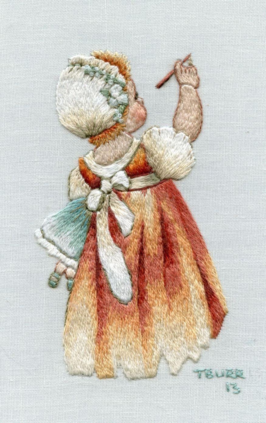 Miniature needle painting trish burr embroidery