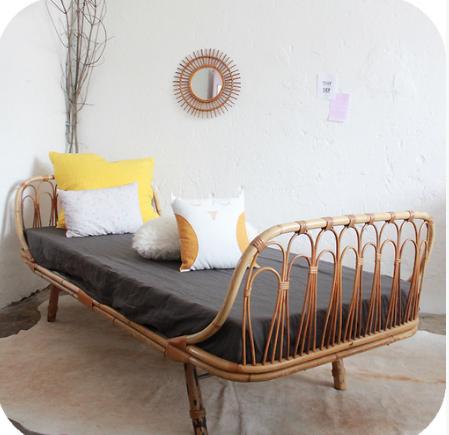 Vintage wicker sofa table refil sofa for Sofa exterior conforama