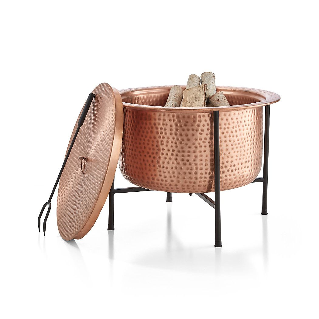 Vitale Solid Copper Firepit Reviews Crate And Barrel Fire Pit Crates