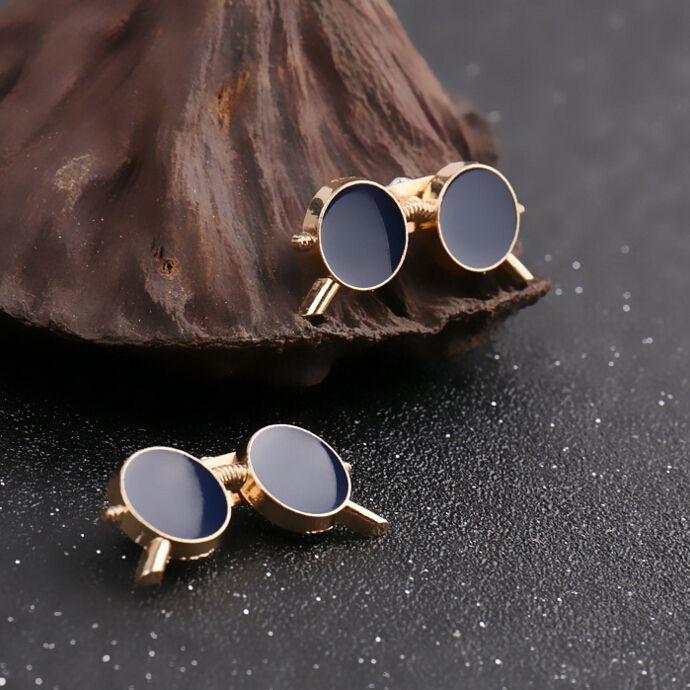 1 par Moda Coreana Chapado En Oro lindo Gafas Broche Pin de la Solapa Hombres Broches Broche Mujer Broches de La Vendimia Para Las Mujeres