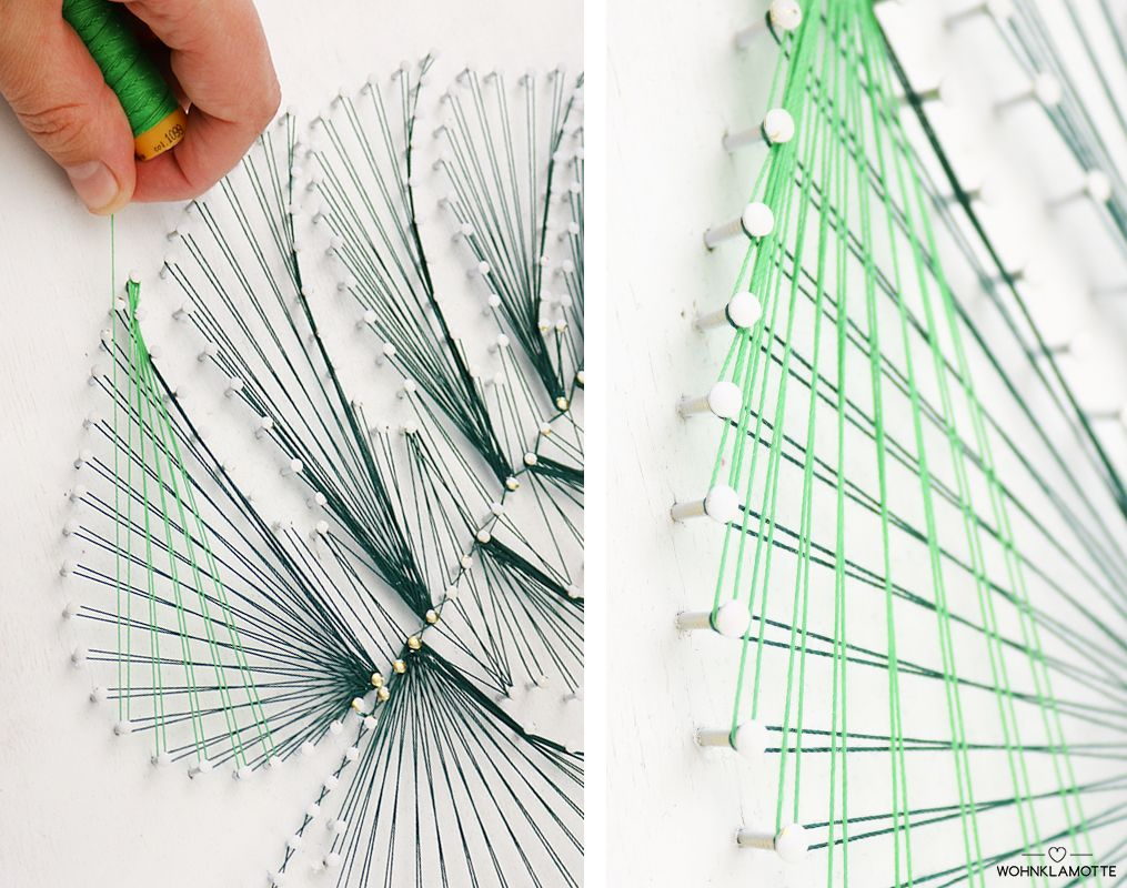 diy fadenbild f r das tropenfeeling zuhause nail string art pinterest fadenbilder. Black Bedroom Furniture Sets. Home Design Ideas