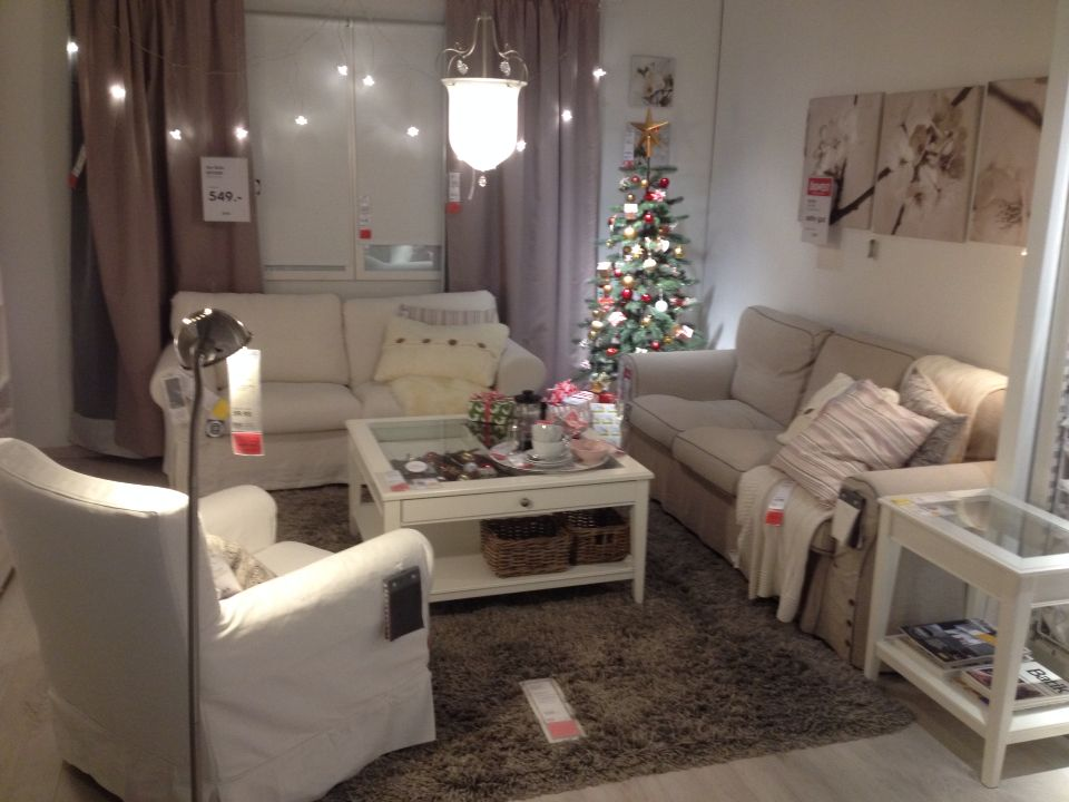 Ikea Christmas Livingroom Decoration Ektorp And Hemnes