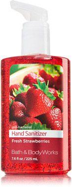 Fresh Strawberries Sanitizing Hand Gel Anti Bacterial Bath