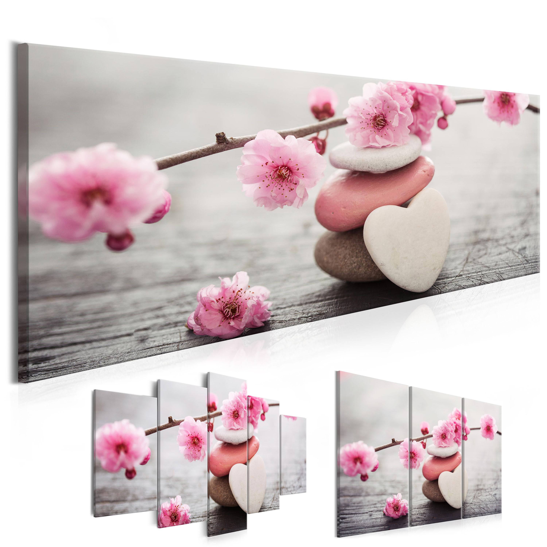 Tableau Zen Romantique Fleurs De Cerisier Decotration Murale Sur