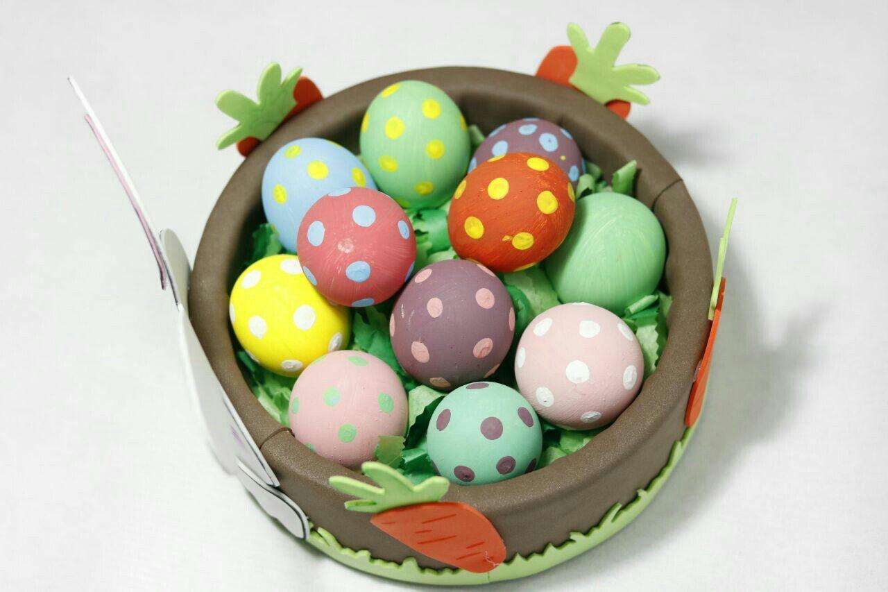 Huevos de pascua, canasta de pascua, eggs pascua, huevos decorados, canasta de foami, conejo de pascua